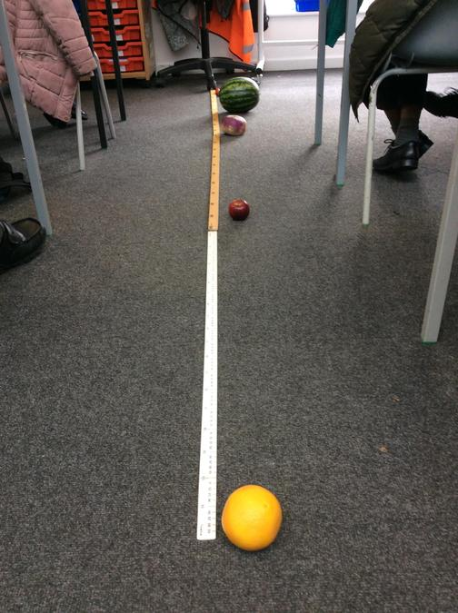Making a scale model of the solar system.