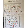 Jake's health balanced meal