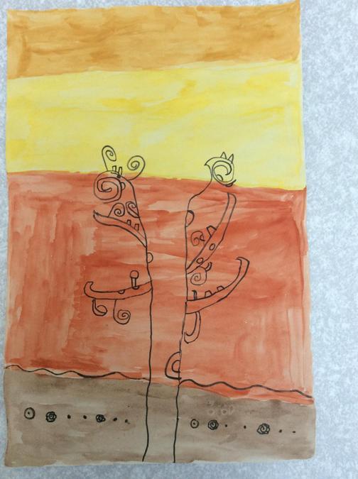 Klimt inspired art