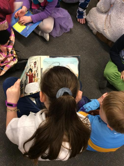 World Book Day - Reading with Reception