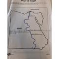 Olivia's map of Egypt