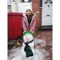 This young lady enjoyed making this snowman at the weekend!