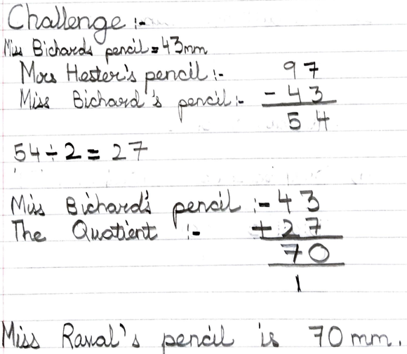 A completing Mrs Hester's challenge. Well done.