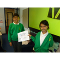 Elm Spanish Ambabssadors with their book