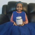 This young lady made a wonderful 'happy jar'.