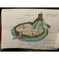 What a fantastic drawing this young lady has drawn of a Motte and Bailey castle.