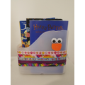 Y's recycled book holder. Great way to reuse plastic.