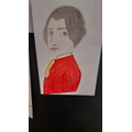 A drawing of Mozart inspired by our music lessons
