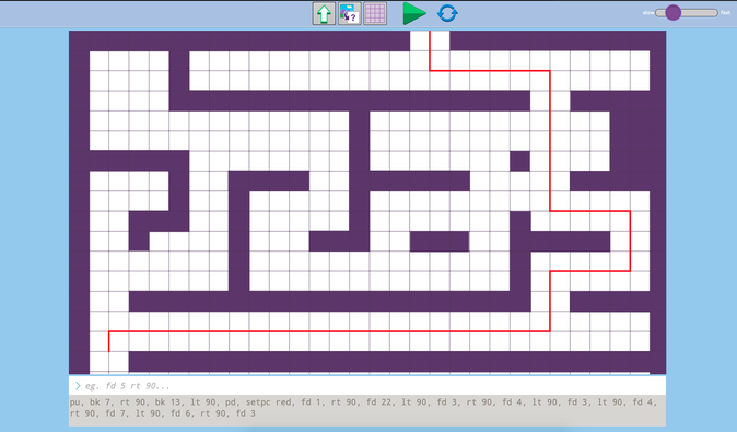 A route through the maze by DJ.