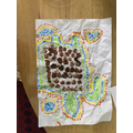 We made pictures in the style of Aboriginal art.