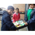 RRS Team taking harvest food to the local Foodbank