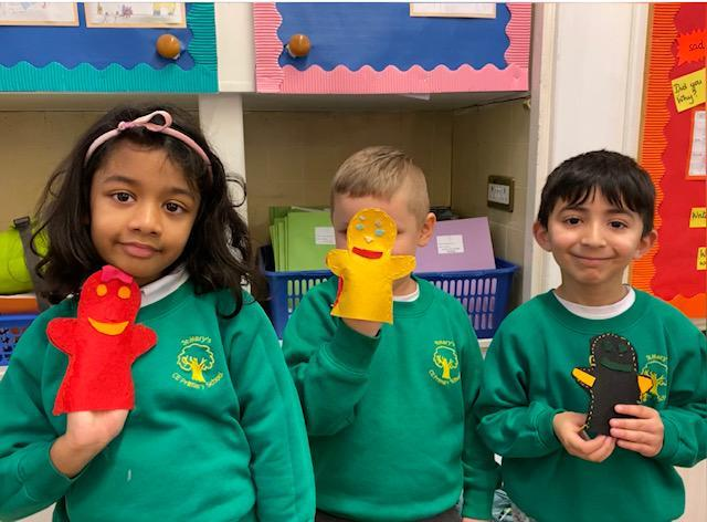 WOW! Look at our puppets, such neat sewing!