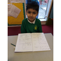The children in school have been working hard in English today (26/1)
