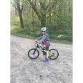 Harry out for a cycle in the woods!