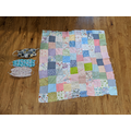 She has been making a patchwork quilt.