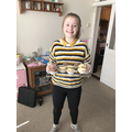 Hannah in 7S has been making some cakes...yum!