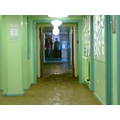 The main school corridor.