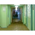 The main school corridor.