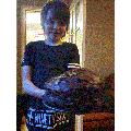 Mason baking a Gooey Chocolate Fudge Cake...Yum!!