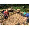 Hard at work, chopping!