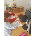 William and his sister Grace working hard!