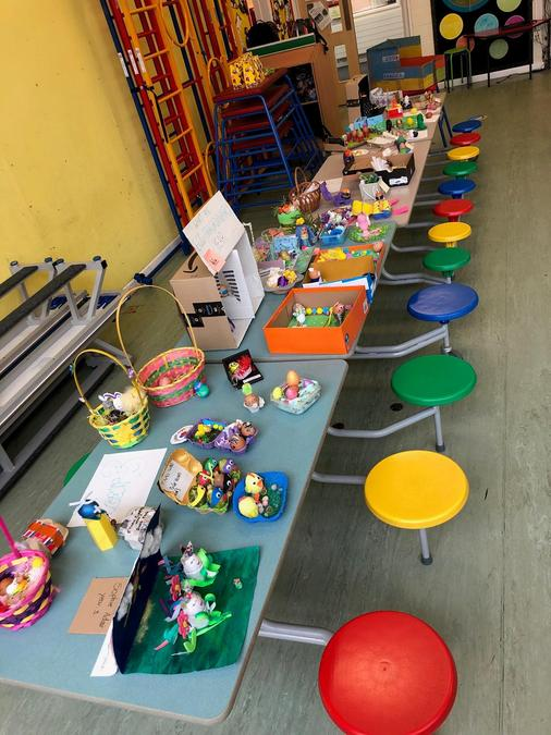 KS2 entries into the Easter egg competition.