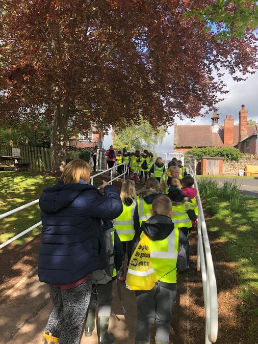Year 3 enjoyed their walk to the woods this morning