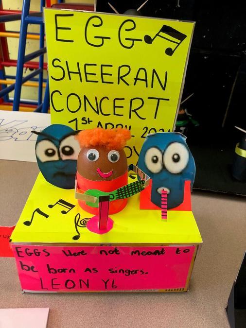 Celebrity Egg-Sheeran made an appearance too
