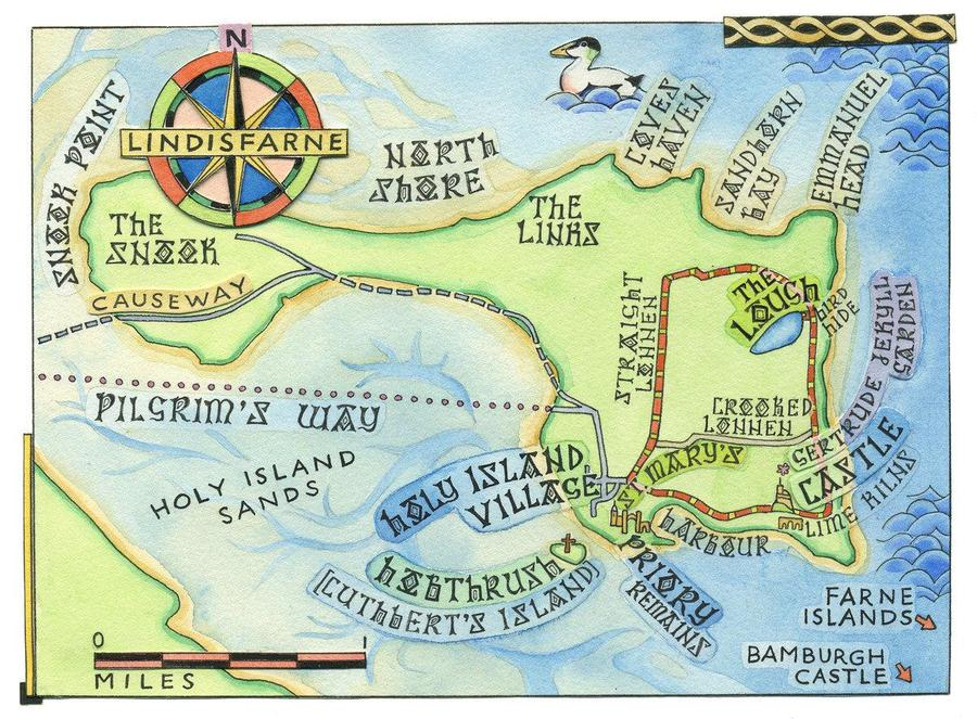 Map of Lindisfarne