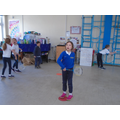 We've been learning about forehand and backhand.