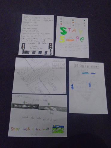 A selection of our class road safety information posters and leaflets