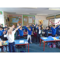 We've been enjoying singing songs about our value this term 'Joy'.