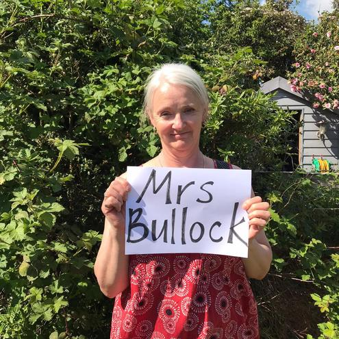 My name is Mrs Bullock. I am your teacher on a Thursday afternoon.