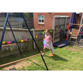 Evie did 104 laps of her garden! WOW!