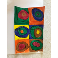 Alfie: Concentric Circles inspired by Kandinsky