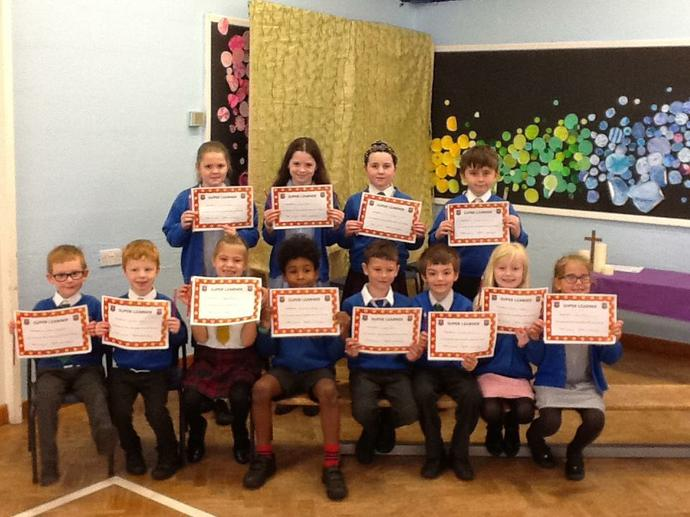 These children received the Super Learner Award for showing the value of friendship in their learning.  Well done everyone
