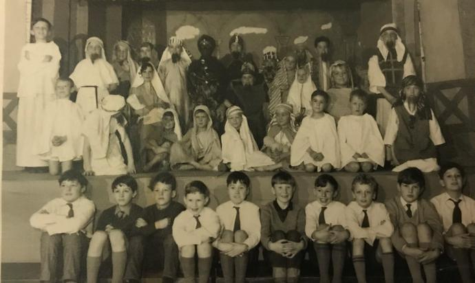 This is a St Mary's Boys nativity production- taken at the top end of the main room at Longcroft Hall. Each year a stage was specifically built for this annual event. Not sure of the year-perhaps 67/68? Of particular interest are the two girls drafted in from St Mary's Girls school for the performances.