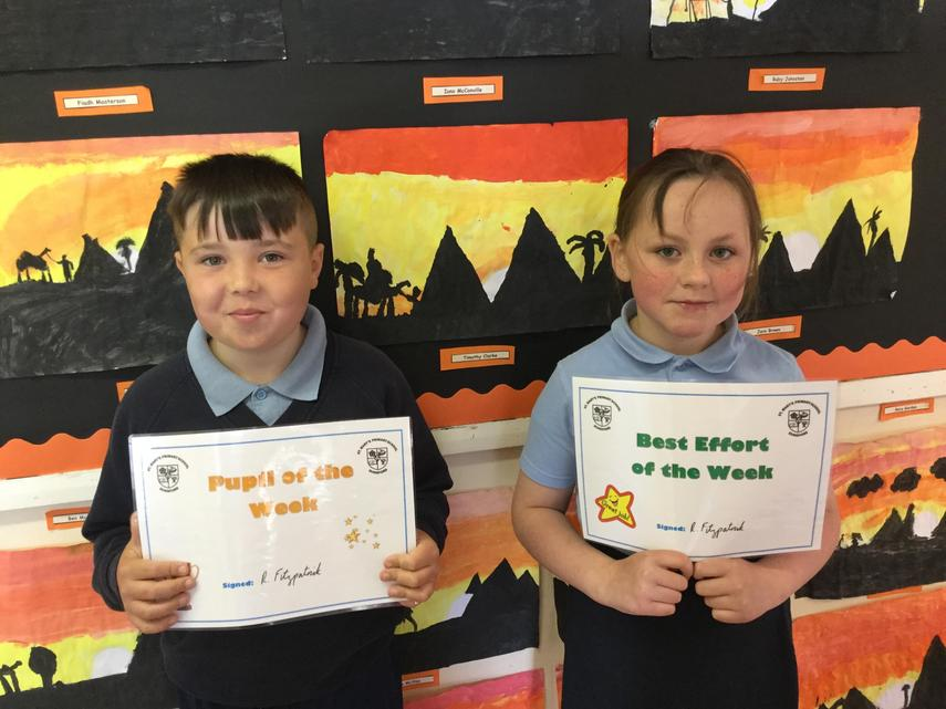 🌟 Weekly Awards: 18th June 2021 🌟         🌟 Well Done Ben and Niamh! 🌟