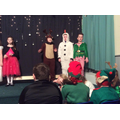 Elfis, Rudolph and Frosty meet the fairies.
