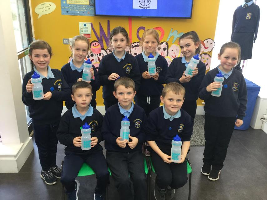 We each received a water bottle from NI Water!