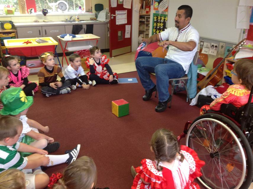 Jorge Velasquez taught us some Spanish songs
