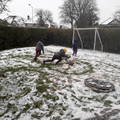 Manny and his brother Adam having lots of fun in the snow!