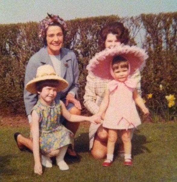 I'm in pink. With me are my sister, mum and gran.