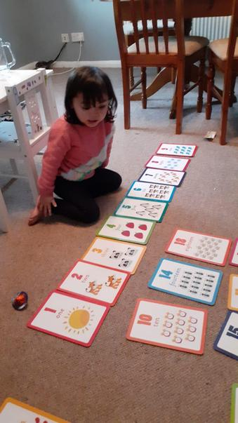 Sofia has been busy counting at home. Fantastic!
