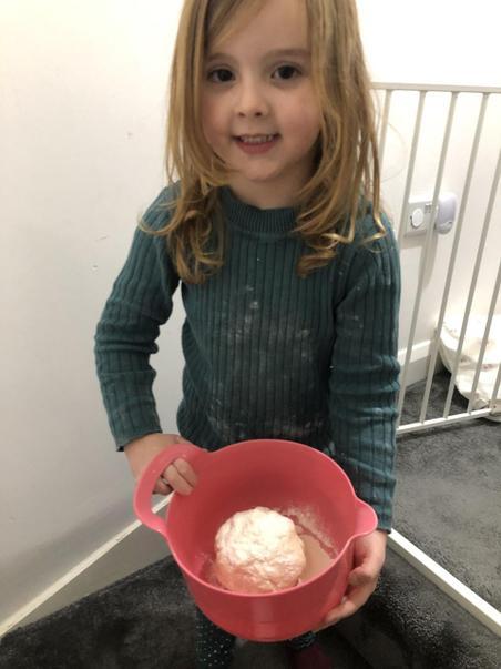 Esme is baking!