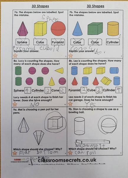 Michael has been working on 3D shapes.