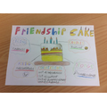 Caleb's incredible ingredients for Friendship!