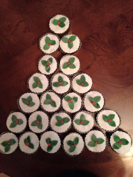 Christmas cake is another tradition that's baked every year. Christmas cake cupcakes!