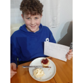 Riley has made scones, which links with 'Instruction Writing' for English!