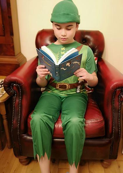 Aidan as Peter Pan for World Book Day